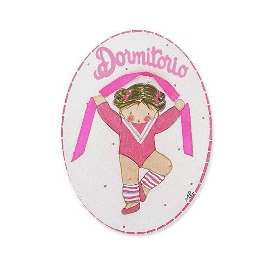 placas para puertas intantiles personalizadas con nombre bebe decorativa artesanal niña niño regalos originales blaucasa bailarina gimnasia