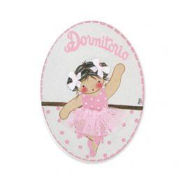 placas para puertas intantiles personalizadas con nombre bebe decorativa artesanal niña niño regalos originales blaucasa bailarina ballet passe