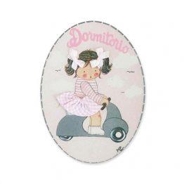 placas para puertas intantiles personalizadas con nombre bebe decorativa artesanal niña niño regalos originales blaucasa vespa