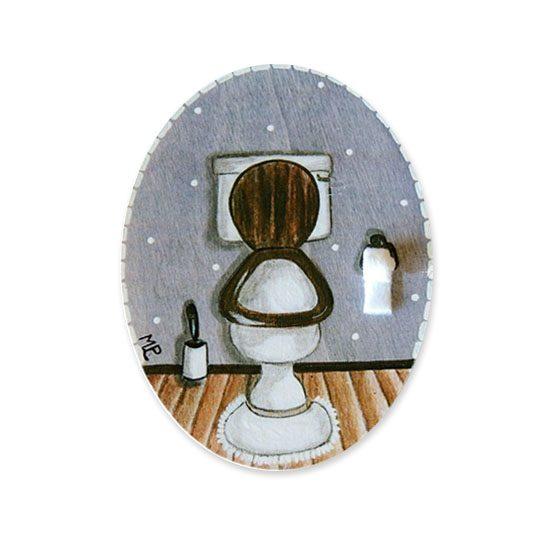 placas para puertas de casa baño retrete azul