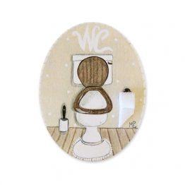 placas para puertas de casa baño retrete crema