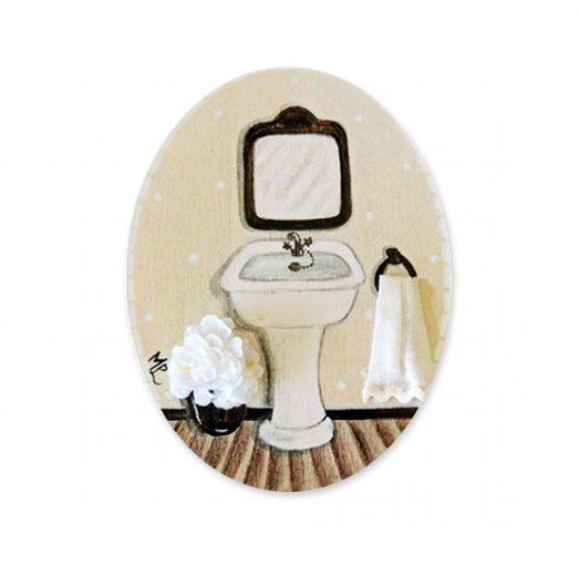 placas para puertas de casa baño lavamanos crema