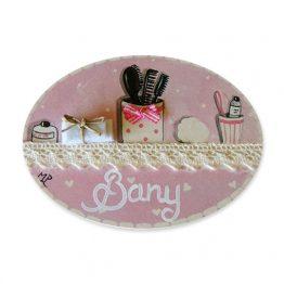placas para puertas de casa baño accesorios de neceser rosa