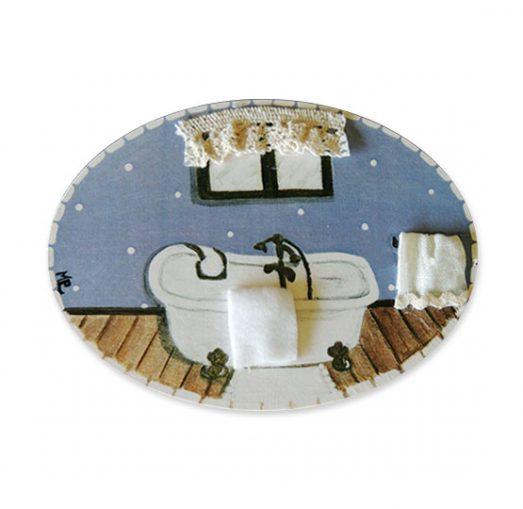 placas para puertas de casa baño con bañera azul