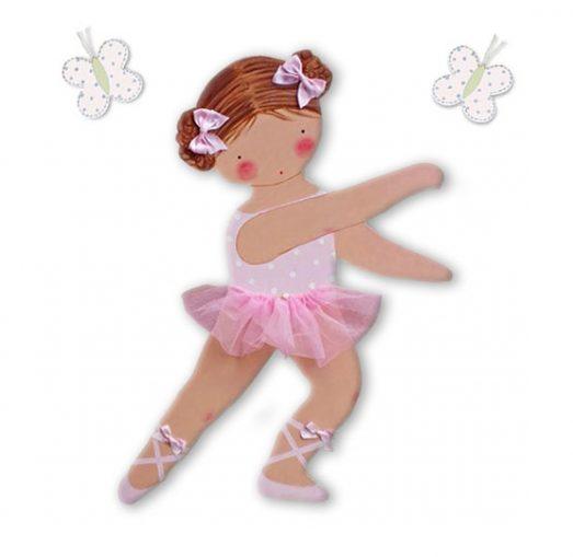 siluetas infantiles de madera personalizadas artesanales para regalos originales niña niño bebe imagenes blaucasa bailarina rosa mariposas