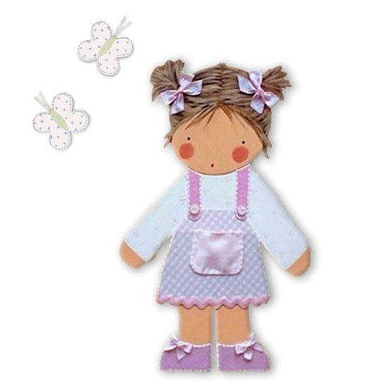 siluetas infantiles de madera personalizadas artesanales para regalos originales niña niño bebe blaucasa rosa