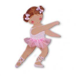 siluetas infantiles de madera personalizadas artesanales para regalos originales niña niño bebe imagenes blaucasa bailarina rosa