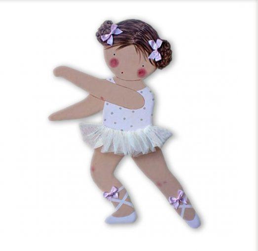 siluetas infantiles de madera personalizadas artesanales para regalos originales niña niño bebe imagenes blaucasa bailarina blanco
