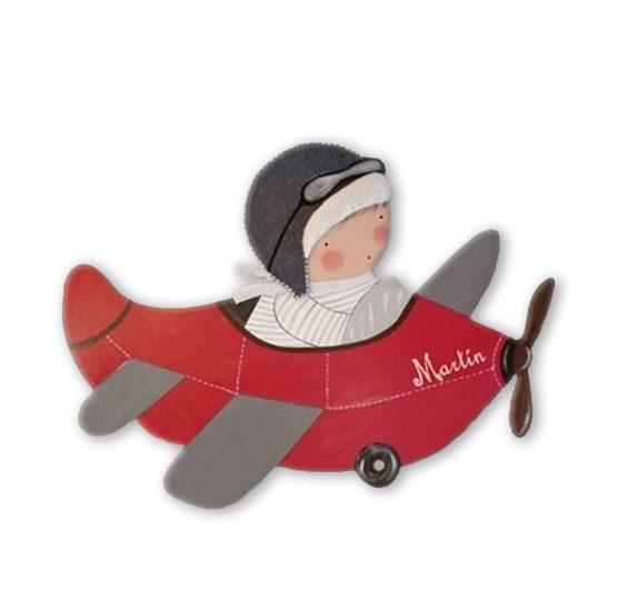 siluetas infantiles de madera personalizadas artesanales para regalos originales niña niño bebe imagenes blaucasa avion
