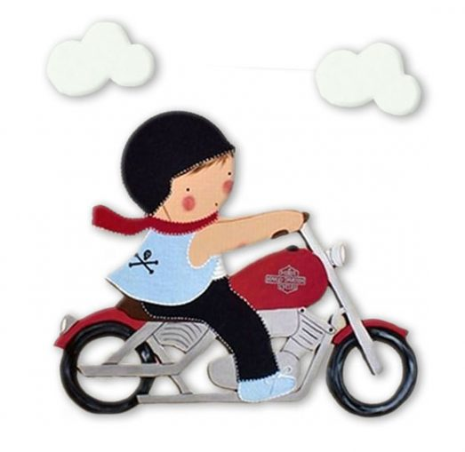 siluetas infantiles de madera personalizadas artesanales para regalos originales niña niño bebe imagenes blaucasa moto harley