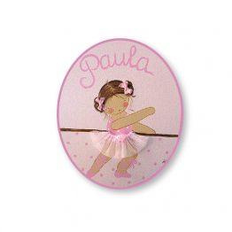 placas para puertas intantiles personalizadas con nombre bebe decorativa artesanal nina nino regalos originales blaucasa bailarina ballet