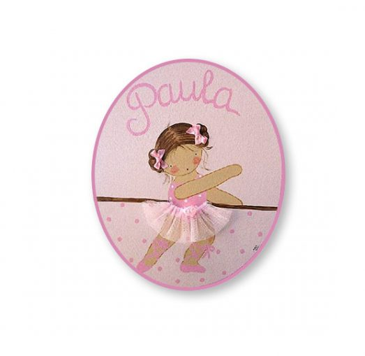 placas para puertas infantiles personalizadas con nombre bebe decorativa artesanal nina nino regalos originales blaucasa bailarina ballet