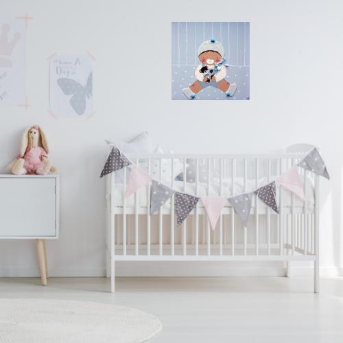 decoracion habitacion infantil pared nina nino bebe artesanal personalizada cuadros infantiles personalizados